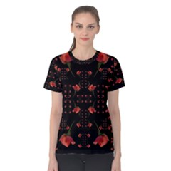 Roses From The Fantasy Garden Women s Cotton Tee by pepitasart