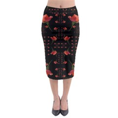 Roses From The Fantasy Garden Midi Pencil Skirt by pepitasart