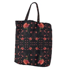 Roses From The Fantasy Garden Giant Grocery Zipper Tote by pepitasart