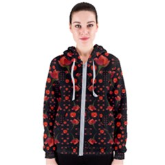 Pumkins And Roses From The Fantasy Garden Women s Zipper Hoodie by pepitasart