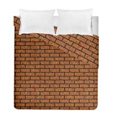 Brick1 Black Marble & Rusted Metal Duvet Cover Double Side (full/ Double Size) by trendistuff