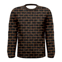 Brick1 Black Marble & Rusted Metal (r) Men s Long Sleeve Tee by trendistuff