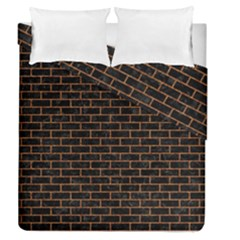 Brick1 Black Marble & Rusted Metal (r) Duvet Cover Double Side (queen Size) by trendistuff