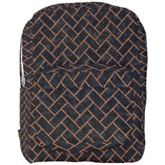 Brick2 Black Marble & Rusted Metal (r) Full Print Backpack by trendistuff