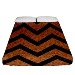Chevron9 Black Marble & Rusted Metal Fitted Sheet (king Size) by trendistuff