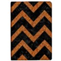 CHEVRON9 BLACK MARBLE & RUSTED METAL (R) Apple iPad Pro 12.9   Flip Case View1