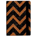 CHEVRON9 BLACK MARBLE & RUSTED METAL (R) Apple iPad Pro 12.9   Flip Case View2