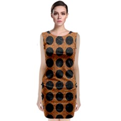Circles1 Black Marble & Rusted Metal Classic Sleeveless Midi Dress