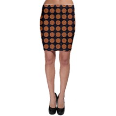 CIRCLES1 BLACK MARBLE & RUSTED METAL (R) Bodycon Skirt