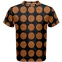 CIRCLES1 BLACK MARBLE & RUSTED METAL (R) Men s Cotton Tee View1