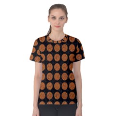 CIRCLES1 BLACK MARBLE & RUSTED METAL (R) Women s Cotton Tee