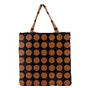 CIRCLES1 BLACK MARBLE & RUSTED METAL (R) Grocery Tote Bag View1