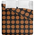 CIRCLES1 BLACK MARBLE & RUSTED METAL (R) Duvet Cover Double Side (King Size) View1