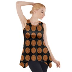 CIRCLES1 BLACK MARBLE & RUSTED METAL (R) Side Drop Tank Tunic