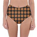 CIRCLES1 BLACK MARBLE & RUSTED METAL (R) Reversible High-Waist Bikini Bottoms View1