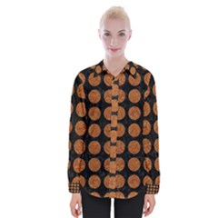 CIRCLES1 BLACK MARBLE & RUSTED METAL (R) Womens Long Sleeve Shirt