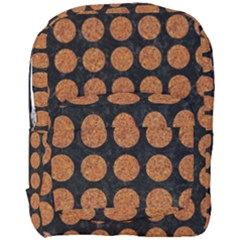 Circles1 Black Marble & Rusted Metal (r) Full Print Backpack by trendistuff