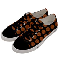 CIRCLES1 BLACK MARBLE & RUSTED METAL (R) Men s Low Top Canvas Sneakers