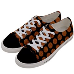 CIRCLES1 BLACK MARBLE & RUSTED METAL (R) Women s Low Top Canvas Sneakers