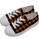 CIRCLES1 BLACK MARBLE & RUSTED METAL (R) Kids  Low Top Canvas Sneakers View2