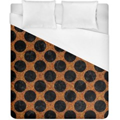 Circles2 Black Marble & Rusted Metal Duvet Cover (california King Size) by trendistuff