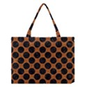 CIRCLES2 BLACK MARBLE & RUSTED METAL Medium Tote Bag View1