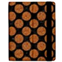 CIRCLES2 BLACK MARBLE & RUSTED METAL (R) Apple iPad Mini Flip Case View2