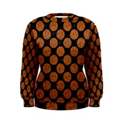 CIRCLES2 BLACK MARBLE & RUSTED METAL (R) Women s Sweatshirt
