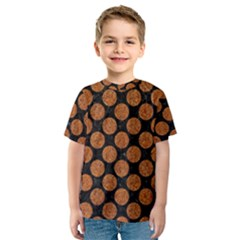 CIRCLES2 BLACK MARBLE & RUSTED METAL (R) Kids  Sport Mesh Tee