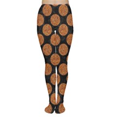 CIRCLES2 BLACK MARBLE & RUSTED METAL (R) Women s Tights