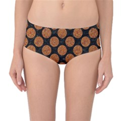 CIRCLES2 BLACK MARBLE & RUSTED METAL (R) Mid-Waist Bikini Bottoms