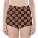 CIRCLES2 BLACK MARBLE & RUSTED METAL (R) High-Waisted Bikini Bottoms View1