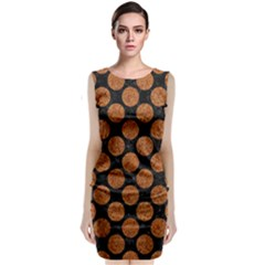 CIRCLES2 BLACK MARBLE & RUSTED METAL (R) Classic Sleeveless Midi Dress