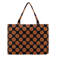Circles2 Black Marble & Rusted Metal (r) Medium Tote Bag