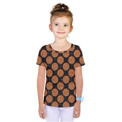 CIRCLES2 BLACK MARBLE & RUSTED METAL (R) Kids  One Piece Tee