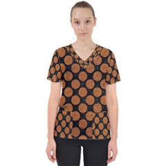CIRCLES2 BLACK MARBLE & RUSTED METAL (R) Scrub Top