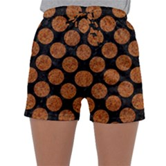 CIRCLES2 BLACK MARBLE & RUSTED METAL (R) Sleepwear Shorts