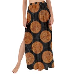 CIRCLES2 BLACK MARBLE & RUSTED METAL (R) Maxi Chiffon Tie-Up Sarong