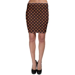 Circles3 Black Marble & Rusted Metal Bodycon Skirt by trendistuff