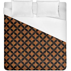 CIRCLES3 BLACK MARBLE & RUSTED METAL Duvet Cover (King Size)