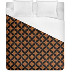 CIRCLES3 BLACK MARBLE & RUSTED METAL Duvet Cover (California King Size)