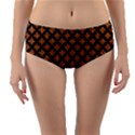 CIRCLES3 BLACK MARBLE & RUSTED METAL Reversible Mid-Waist Bikini Bottoms View3