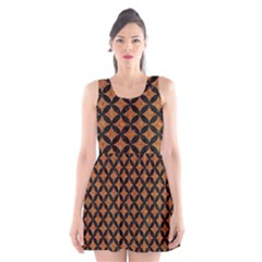 CIRCLES3 BLACK MARBLE & RUSTED METAL Scoop Neck Skater Dress