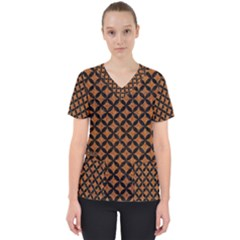 CIRCLES3 BLACK MARBLE & RUSTED METAL Scrub Top