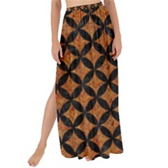 Circles3 Black Marble & Rusted Metal Maxi Chiffon Tie Up Sarong