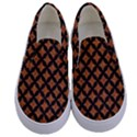 CIRCLES3 BLACK MARBLE & RUSTED METAL Kids  Canvas Slip Ons View1