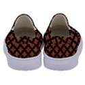 CIRCLES3 BLACK MARBLE & RUSTED METAL Kids  Canvas Slip Ons View4