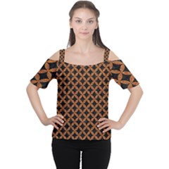 Circles3 Black Marble & Rusted Metal (r) Cutout Shoulder Tee