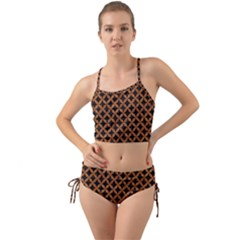 Circles3 Black Marble & Rusted Metal (r) Mini Tank Bikini Set