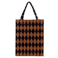 DIAMOND1 BLACK MARBLE & RUSTED METAL Classic Tote Bag